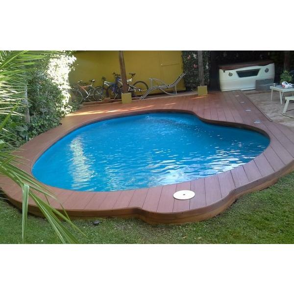 Deck madera piso revestimiento material piscina piscineria for Material piscina