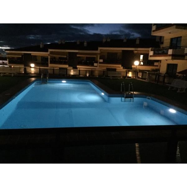 Foco plano solar led luz blanca para piscinas piscineria - Foco led piscina ...