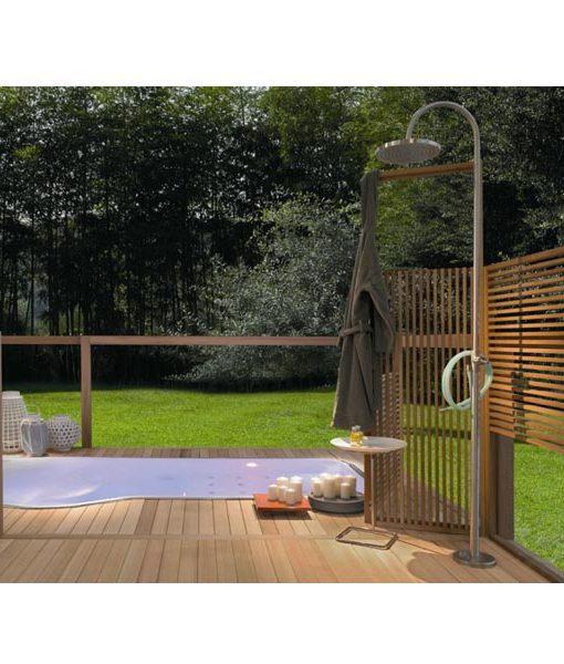 terraza jardín decoración piscina chile piscinería