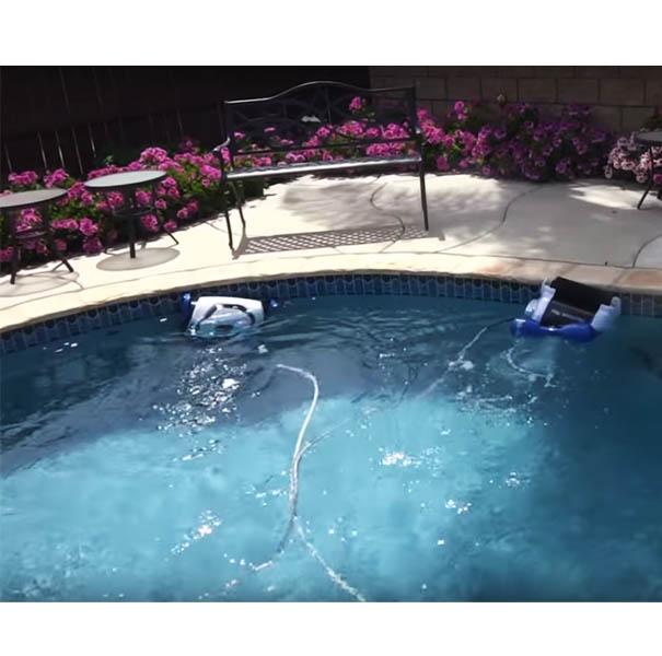 Super limpiador de piscinas autom tico 240m3 piscineria for Limpiador fondo piscina