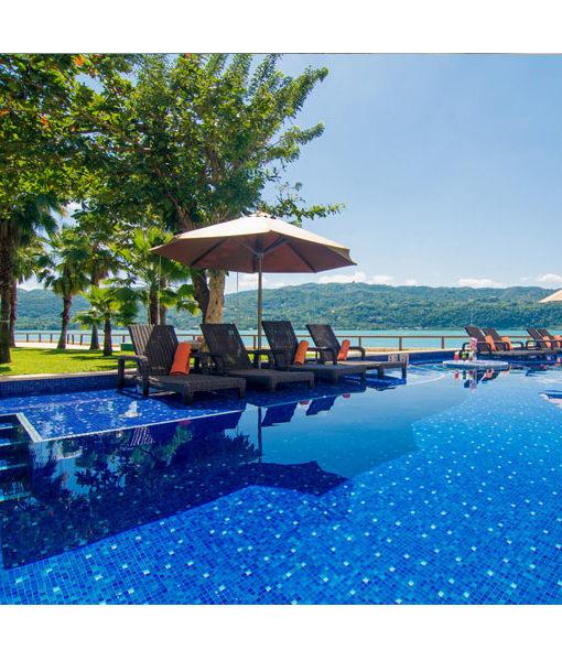mosaico revestimiento piscina relajarse agua revestimiento chile feliz relax