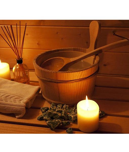 set balde cucharon sauna caliente relax chila piscineria