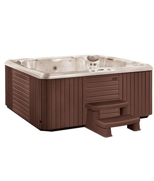 escala escalones madera spa jacuzzi chile agua relax