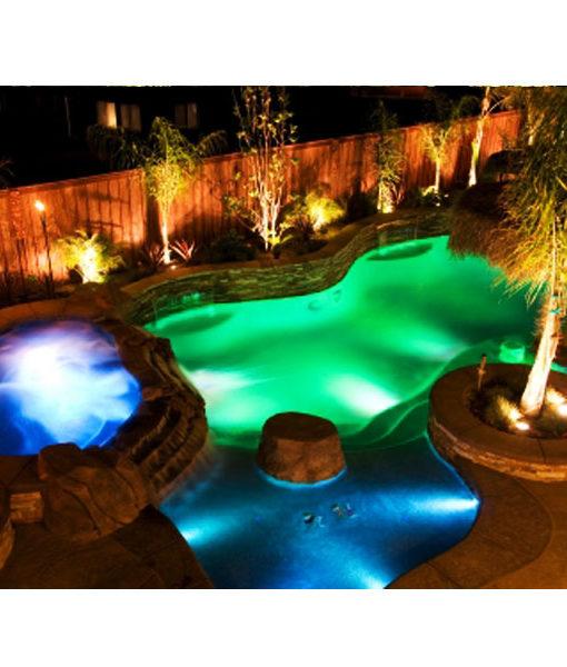 Foco plano wgb para piscina 25w led control remoto for Foco piscina