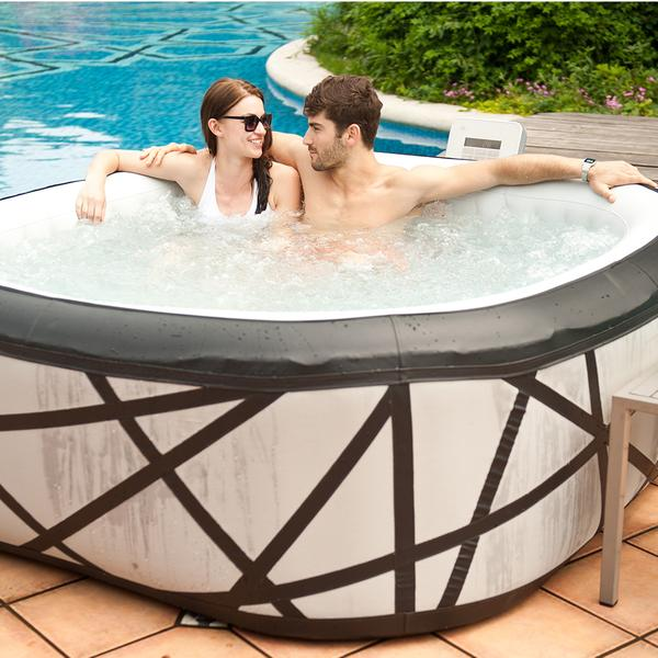 Spa jacuzzi inflable 6 personas soho piscineria for Jacuzzi exterior 6 personas