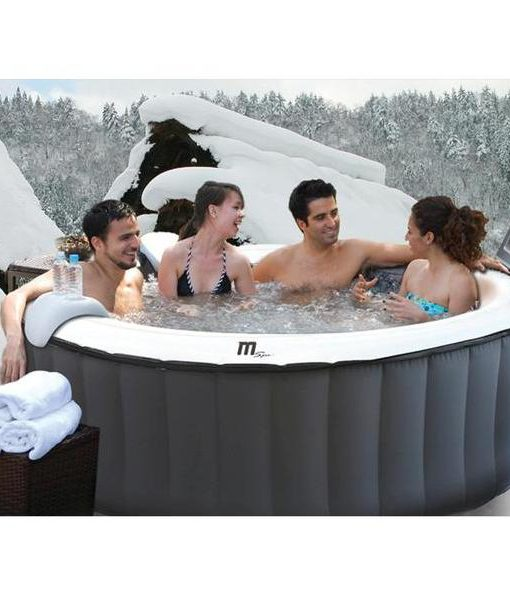 Spa jacuzzi silver cloud inflable 4 personas for Jacuzzi exterior 4 personas