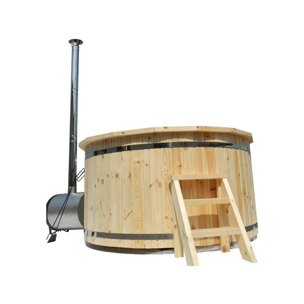 Hot tub madera pino cipres 8 personas calefacci n exterior for Jacuzzi 8 personas