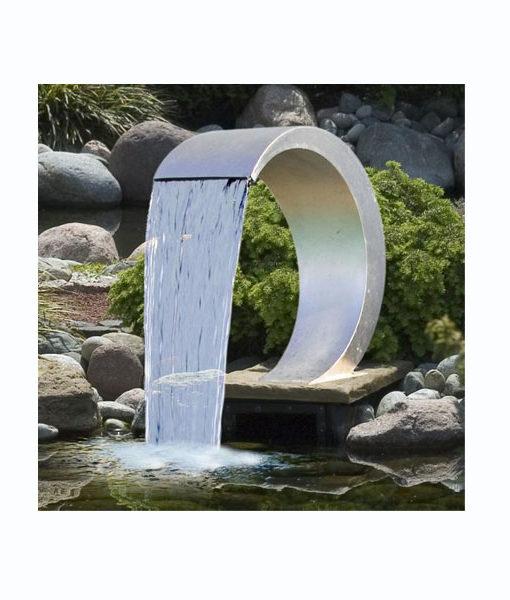 cascada acero inoxidable piscina agua chile relax spa