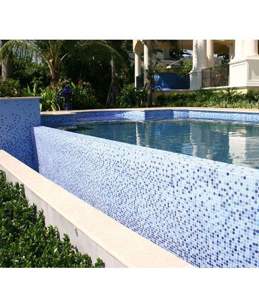 mosaico mix celeste azul piscinas no pintura