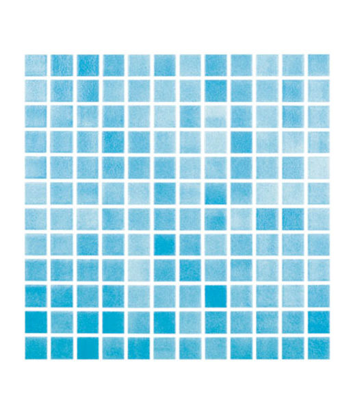 Mosaico celeste niebla piscina relajarse agua revestimiento chile feliz relax